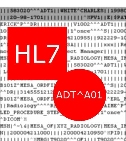 HL7 Sample ADT 01 Patient Admit Message – Message Sample