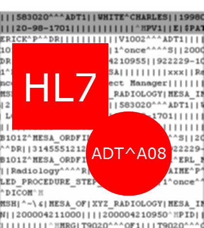 HL7 ADT A08 - Update Patient Information Sample Message